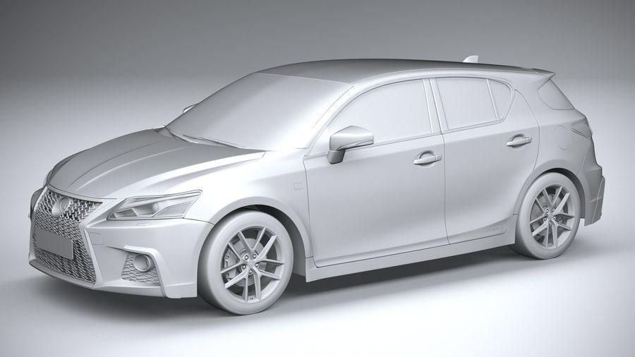 レクサスCT 200h 2020 royalty-free 3d model - Preview no. 20