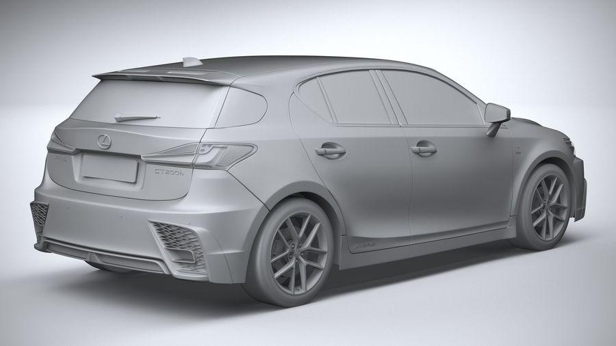レクサスCT 200h 2020 royalty-free 3d model - Preview no. 26