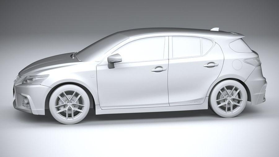 レクサスCT 200h 2020 royalty-free 3d model - Preview no. 23