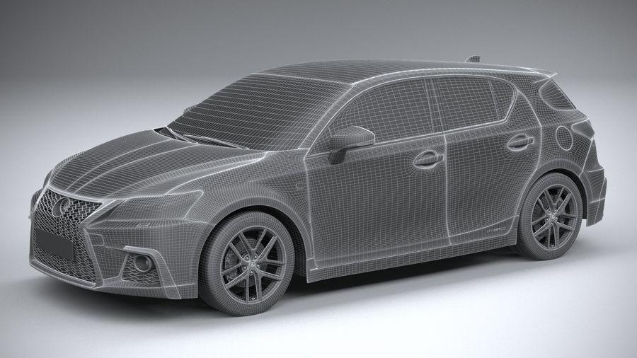レクサスCT 200h 2020 royalty-free 3d model - Preview no. 27