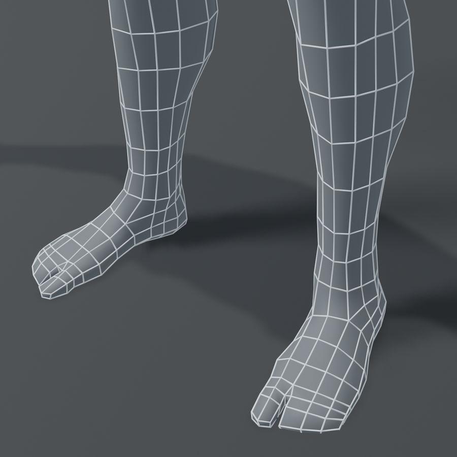 Male Body Base Mesh 3D Model royalty-free 3d model - Preview no. 1