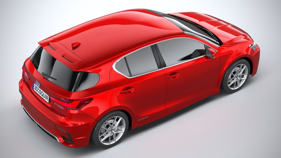 レクサスCT 200hレギュラー2020 royalty-free 3d model - Preview no. 11