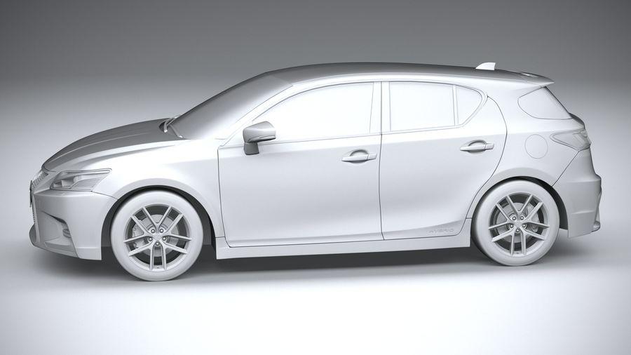 レクサスCT 200hレギュラー2020 royalty-free 3d model - Preview no. 23