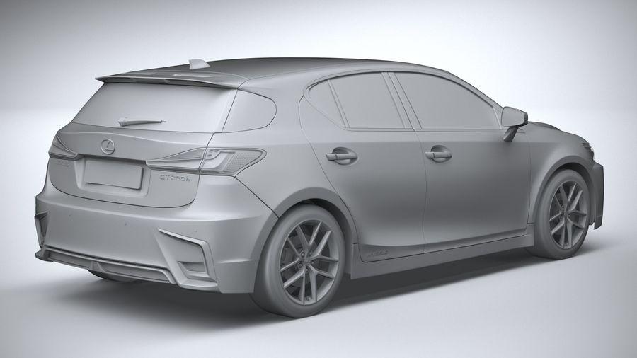 レクサスCT 200hレギュラー2020 royalty-free 3d model - Preview no. 26