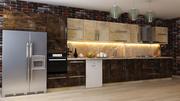 Мраморная мебель для кухни Дизайн 3d model