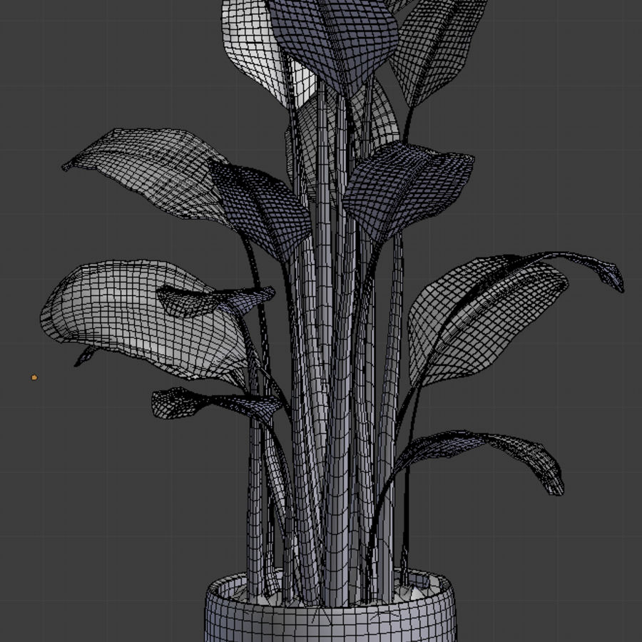 Potted Plant royalty-free 3d model - Preview no. 6