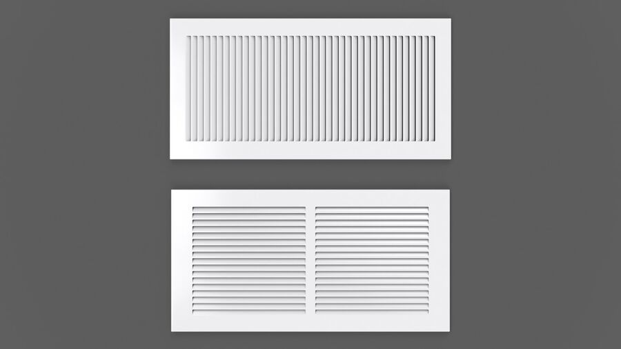 Air Vent Register royalty-free 3d model - Preview no. 6