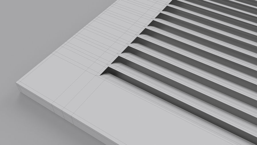 Air Vent Register royalty-free 3d model - Preview no. 9
