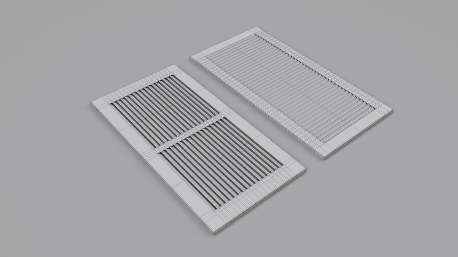 Air Vent Register royalty-free 3d model - Preview no. 5
