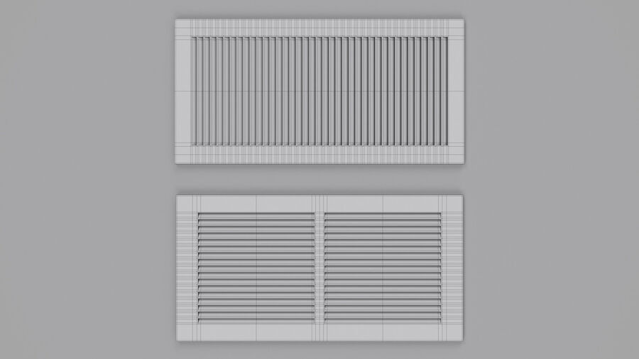 Air Vent Register royalty-free 3d model - Preview no. 7