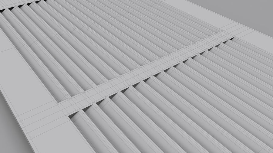 Air Vent Register royalty-free 3d model - Preview no. 11