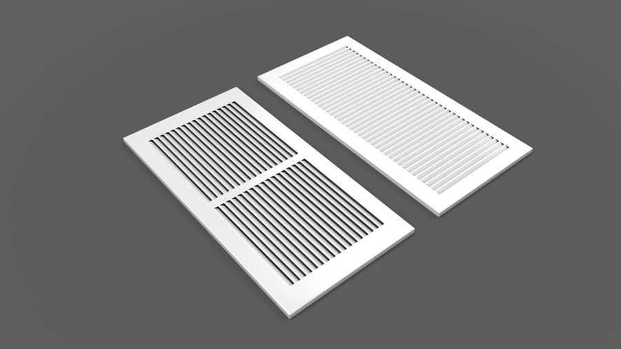 Air Vent Register royalty-free 3d model - Preview no. 4