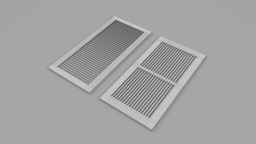Air Vent Register royalty-free 3d model - Preview no. 3