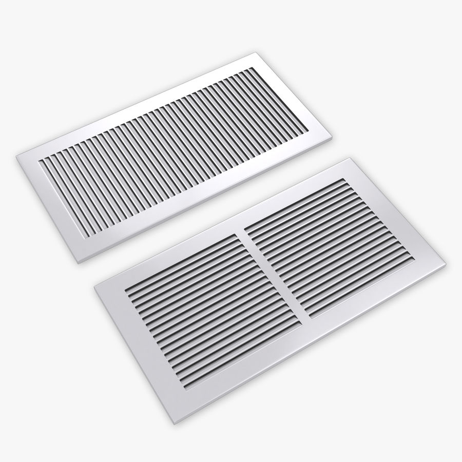 Air Vent Register royalty-free 3d model - Preview no. 1