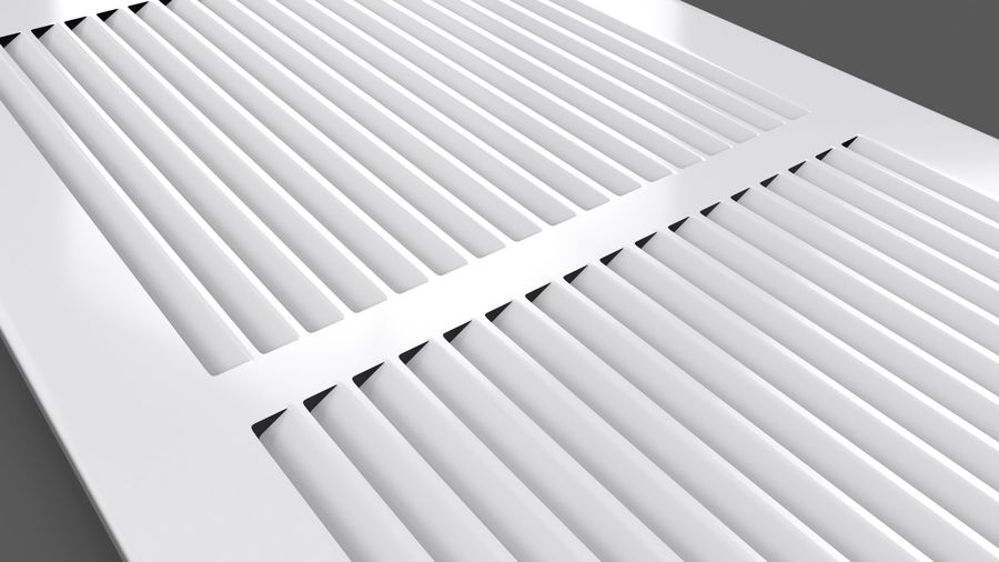 Air Vent Register royalty-free 3d model - Preview no. 10