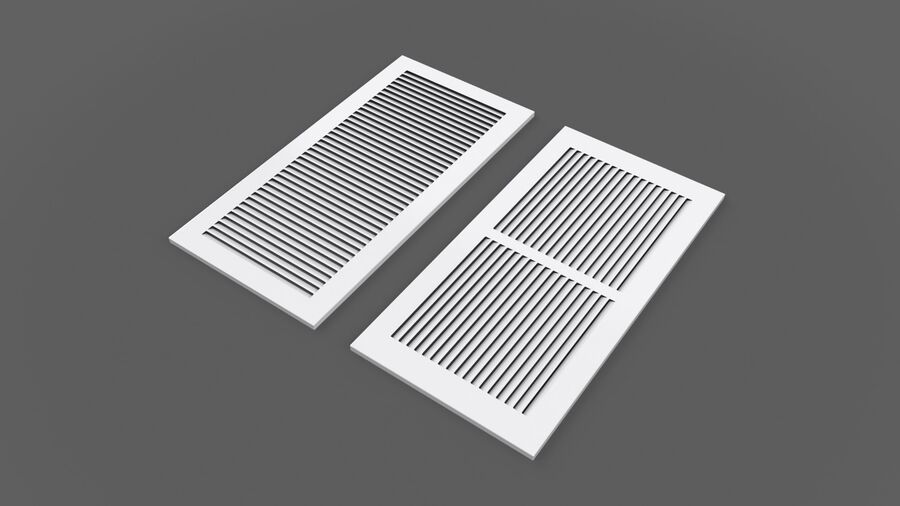 Air Vent Register royalty-free 3d model - Preview no. 2