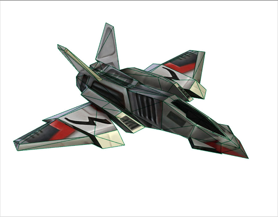 Scifi Fighter lowpoly royalty-free 3d model - Preview no. 7