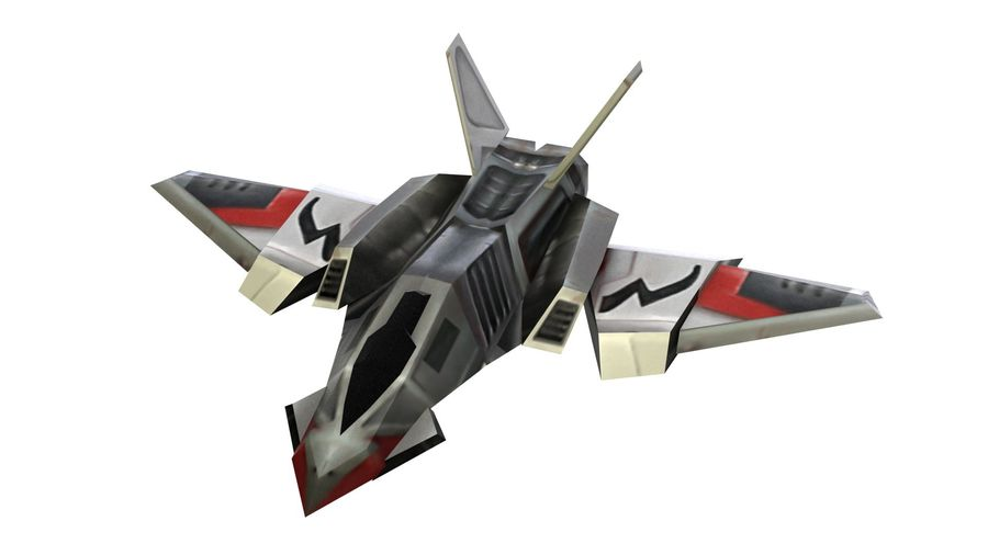 Scifi Fighter lowpoly royalty-free 3d model - Preview no. 2