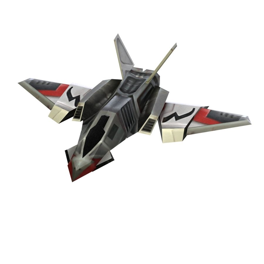 Scifi Fighter lowpoly royalty-free 3d model - Preview no. 1