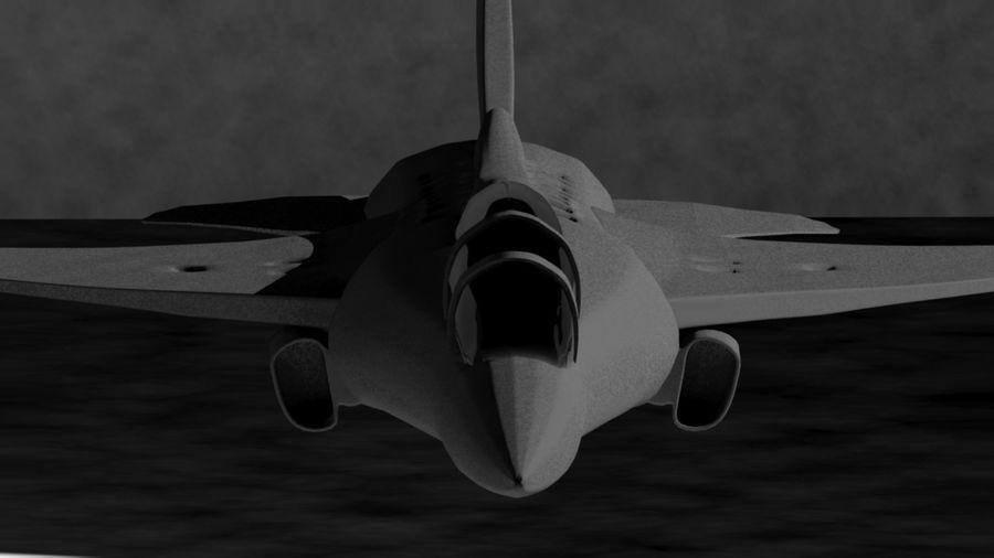 avião a jato royalty-free 3d model - Preview no. 3