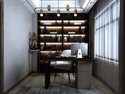 Home Office Design con varie figurine 3d model