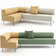 Eave Dining Sofa van MENU 3d model