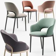 Conjunto de cadeiras Thonet 520 3d model