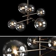 Araña de luces Gallotti & Radice Bolle 6 luces modelo 3d