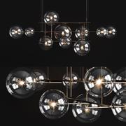 Araña de luces Gallotti & Radice Bolle horizontal modelo 3d