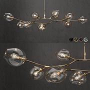 Samling Branching bubbla 9 lampor 3 3d model