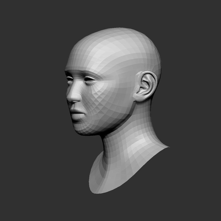 cabeça basemesh royalty-free 3d model - Preview no. 4