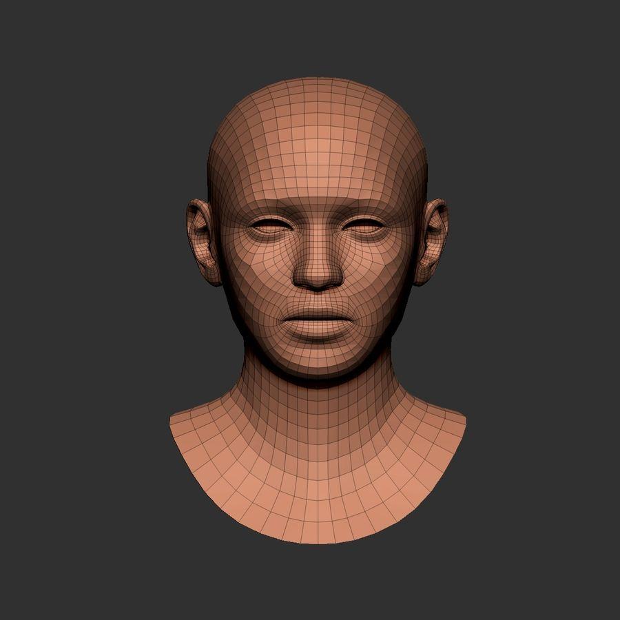 cabeça basemesh royalty-free 3d model - Preview no. 5