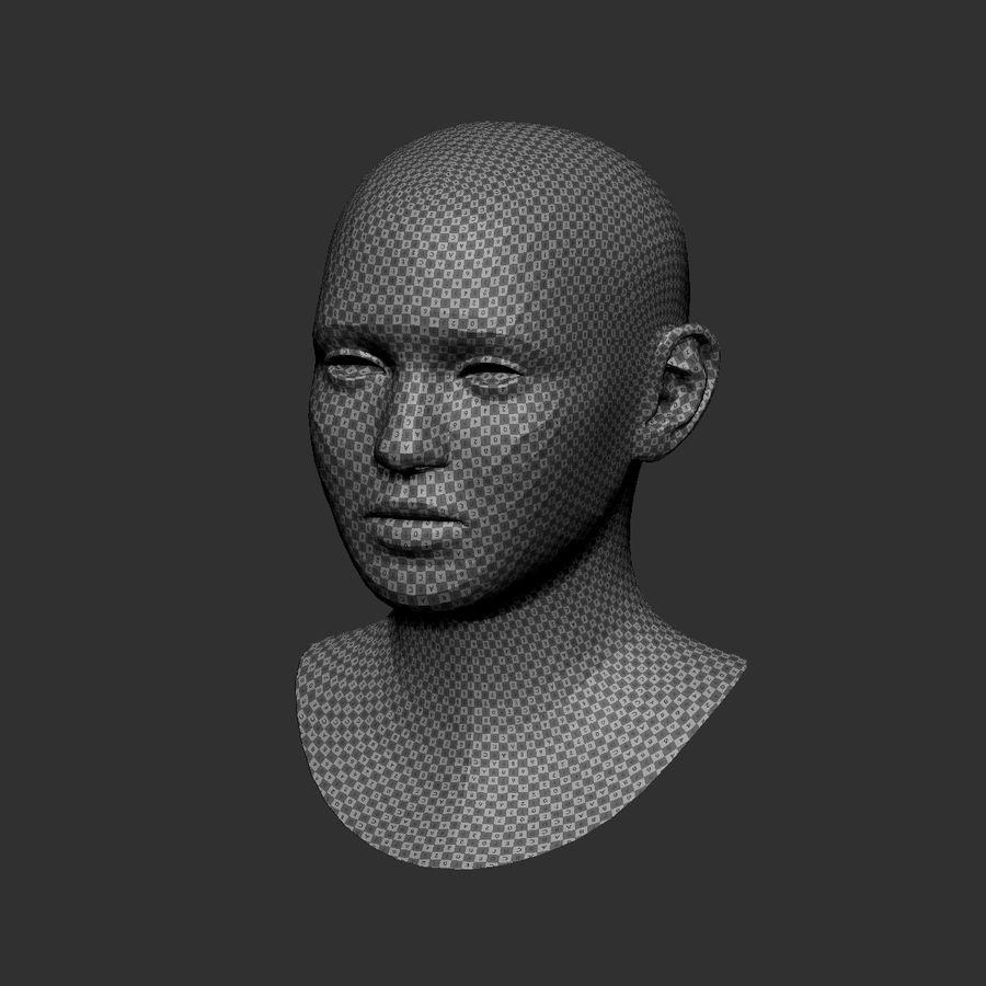 cabeça basemesh royalty-free 3d model - Preview no. 3