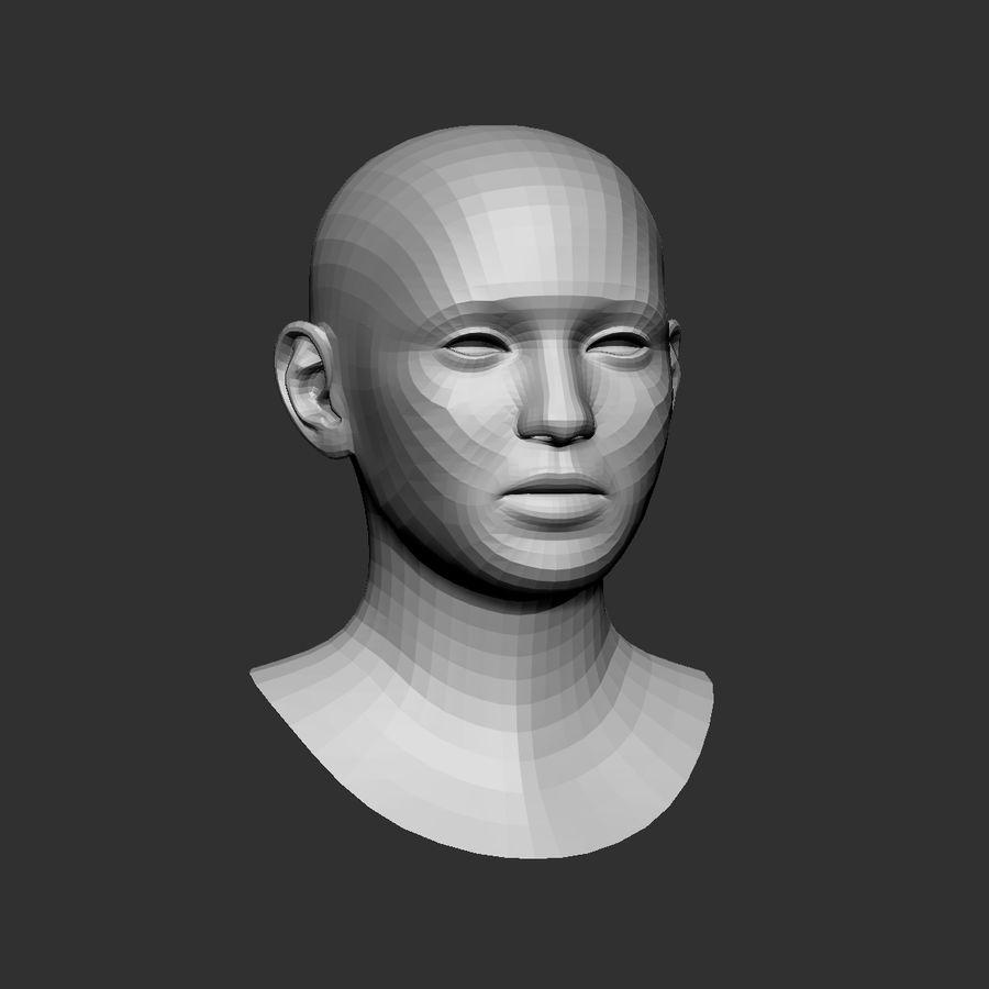 cabeça basemesh royalty-free 3d model - Preview no. 2