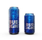 Bud Light Dosen lassen Oberfläche fallen 3d model