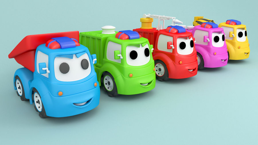 Cartoon car construction vehicles royalty-free 3d model - Preview no. 1