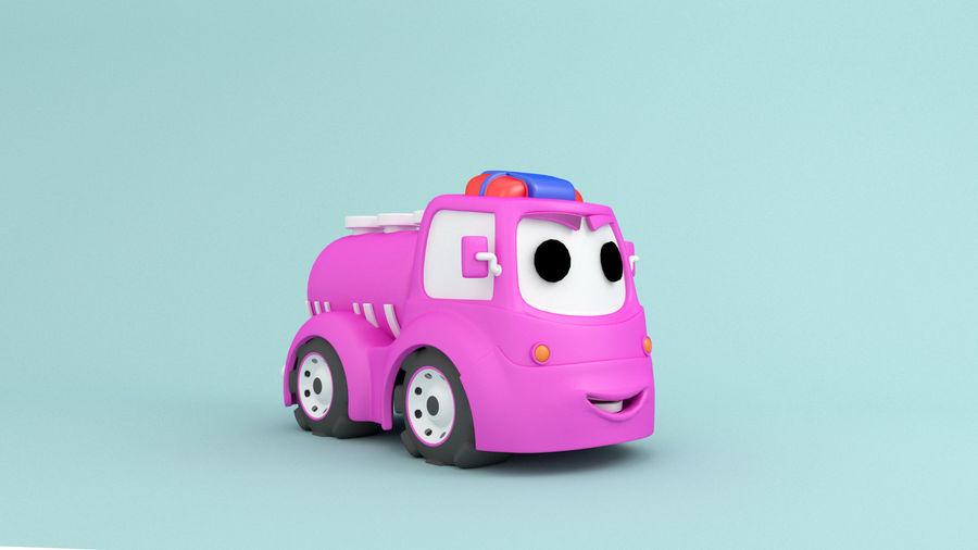 Cartoon car construction vehicles royalty-free 3d model - Preview no. 5