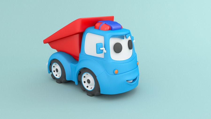 Cartoon car construction vehicles royalty-free 3d model - Preview no. 2