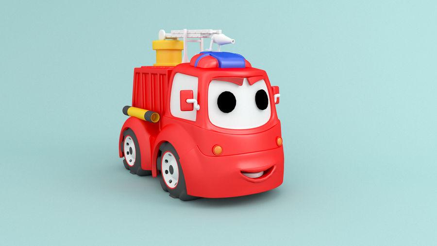 Cartoon car construction vehicles royalty-free 3d model - Preview no. 4