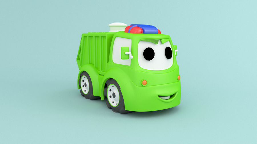 Cartoon car construction vehicles royalty-free 3d model - Preview no. 3