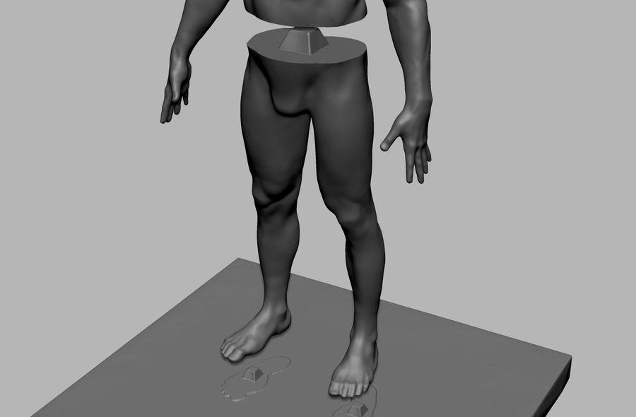 Mannelijke anatomie figuur royalty-free 3d model - Preview no. 13