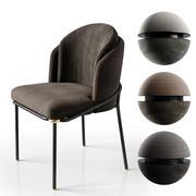 Chairs minotti fil noir 3d model