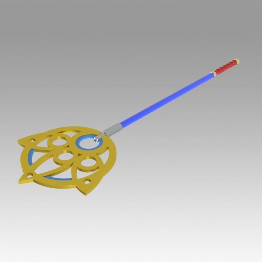 Final Fantasy X FF10 Yuna Stab Cosplay Waffe Prop royalty-free 3d model - Preview no. 6