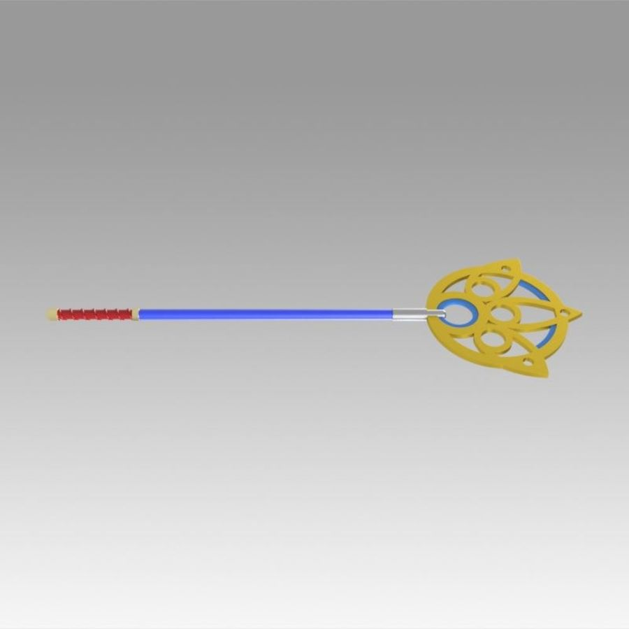 Final Fantasy X FF10 Yuna Stab Cosplay Waffe Prop royalty-free 3d model - Preview no. 3