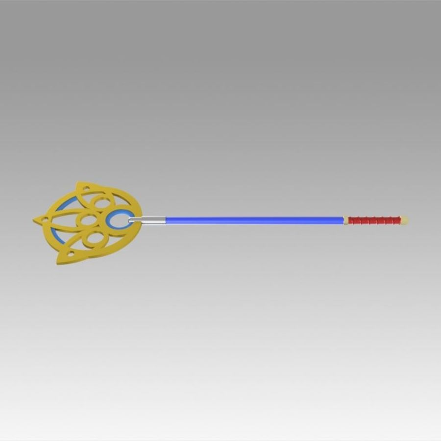 Final Fantasy X FF10 Yuna Stab Cosplay Waffe Prop royalty-free 3d model - Preview no. 7