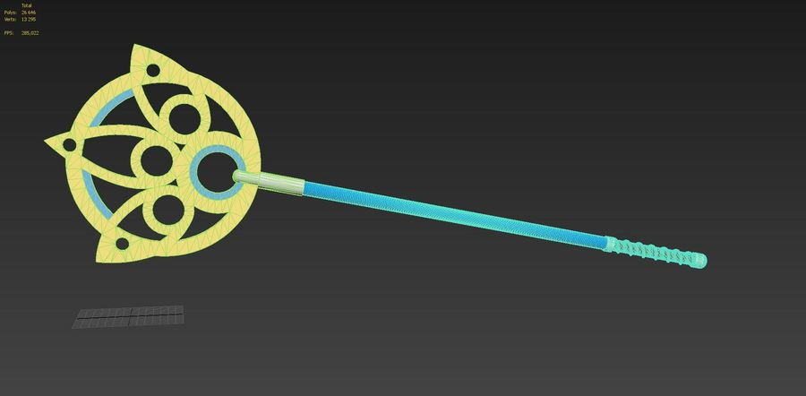 Final Fantasy X FF10 Yuna Stab Cosplay Waffe Prop royalty-free 3d model - Preview no. 10