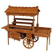 Carro de exhibición de madera modelo 3D modelo 3d