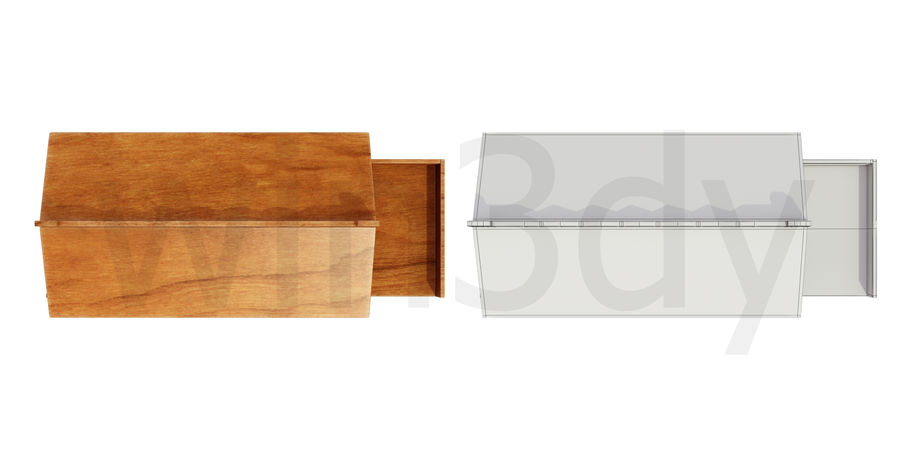Wooden display cart 3D model royalty-free 3d model - Preview no. 4