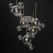 샹들리에 Giopato & Coombes Bolle 24 등 3d model
