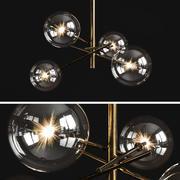 Araña de luces Gallotti & Radice Bolle 4 luces modelo 3d